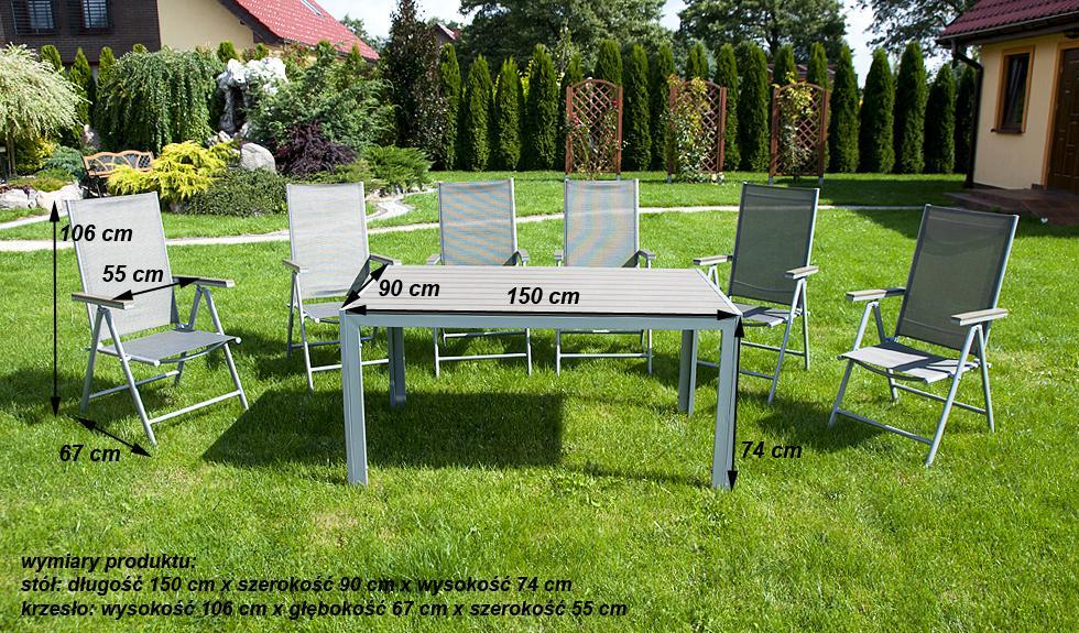 Meble Ogrodowe Aluminiowe Zestaw Ogrodowy Modena : MEBLE OGRODOWE aluminiowe ZESTAW OGRODOWY modena srebrny  sklep