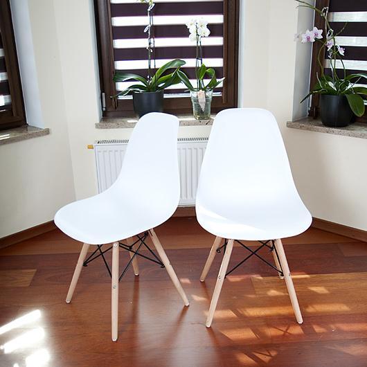 Krzesło Białe Nowoczesne Kolekcja Mediolan Do Kuchni I Jadalni