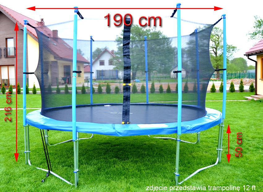 trampolina ogrodowa marki top fitness z siatk wewn trzn o rednicy 190 cm 6 ft sklep. Black Bedroom Furniture Sets. Home Design Ideas
