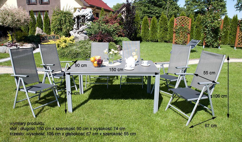 Meble Ogrodowe Aluminiowe Zestaw Ogrodowy Ibiza : MEBLE OGRODOWE aluminiowe ZESTAW OGRODOWY modena srebrny  Karnisz