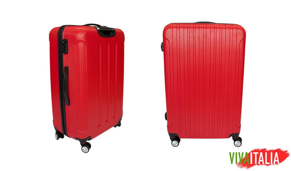 0a3bb3009ac5c Luksusowa Walizka Podróżna VIVA ITALIA rozmiar DUŻA z poliwęglanu kolor  CZERWONA