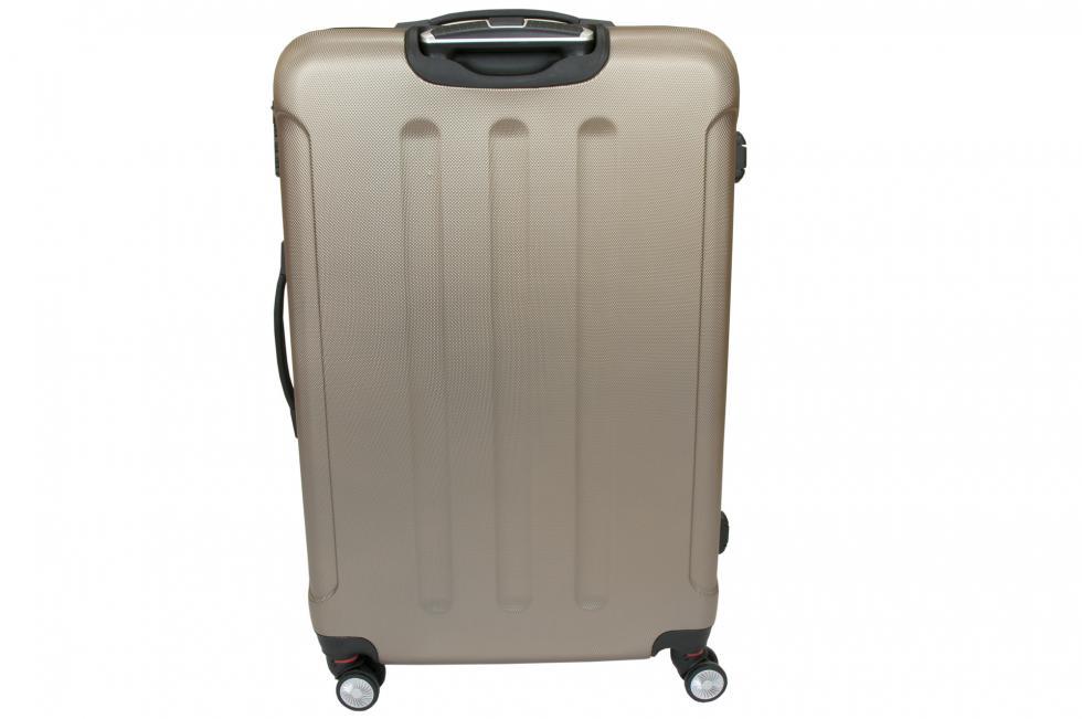 0da53a4baf487 Luksusowa Walizka Podróżna VIVA ITALIA rozmiar DUŻA z poliwęglanu kolor  BEŻOWA