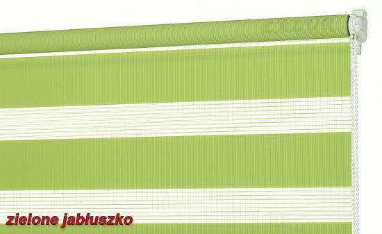 zielona roleta pasy